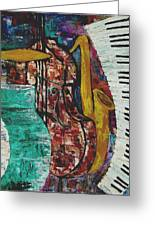 Jazz Greeting Card by Andrea Vazquez-Davidson