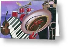 Jazz At Sunset Greeting Card