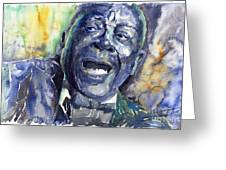 Jazz B.b.king 04 Blue Greeting Card