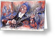 Jazz B B King 05 Red A Greeting Card