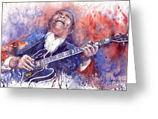 Jazz B B King 05 Red Greeting Card