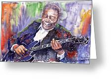 Jazz B B King 06 Greeting Card