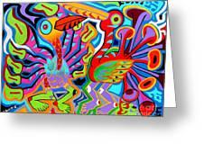 Jazz Birds Greeting Card