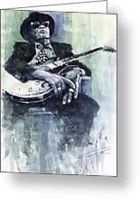 Jazz Bluesman John Lee Hooker 04 Greeting Card
