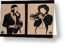 Jazz Jammin Brothers Greeting Card