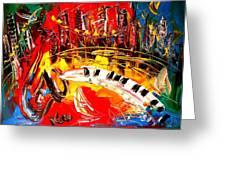 Jazz City Greeting Card