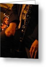 Jazz Clarinet Greeting Card