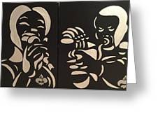 Jazz Duel Greeting Card
