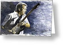 Jazz Eric Clapton 1 Greeting Card by Yuriy  Shevchuk