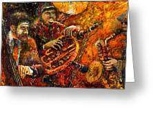 Jazz Gold Jazz Greeting Card