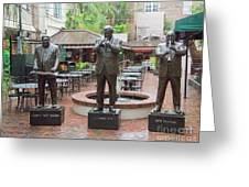 Jazz Greats Al Hirt Fats Domino Pete Fountain Stature New Orleans  Greeting Card