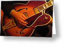 Jazz Guitar  Greeting Card