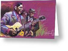 Jazz Guitarist Duet Greeting Card