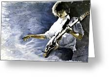 Jazz Guitarist Last Accord Greeting Card