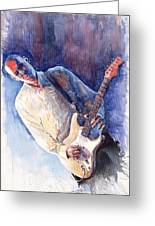 Jazz Guitarist Rene Trossman Greeting Card