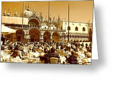 Jazz In Piazza San Marco Greeting Card