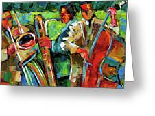Jazz In The Garden Greeting Card