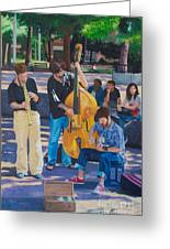 Jazz In The Park Greeting Card