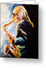 Jazz Man Greeting Card by Karen  Ferrand Carroll