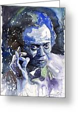 Jazz Miles Davis 11 Blue Greeting Card