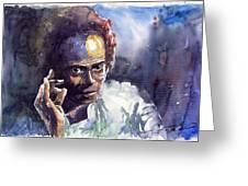 Jazz Miles Davis 11 Greeting Card by Yuriy  Shevchuk