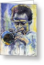 Jazz Miles Davis 12 Greeting Card by Yuriy  Shevchuk