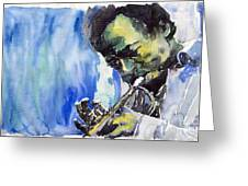 Jazz Miles Davis 5 Greeting Card
