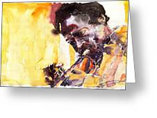 Jazz Miles Davis 6 Greeting Card