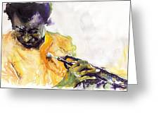Jazz Miles Davis 7 Greeting Card