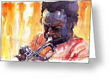 Jazz Miles Davis 8 Greeting Card