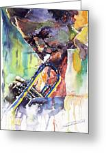 Jazz Miles Davis 9 Blue Greeting Card