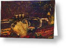Jazz Miles Davis  Greeting Card