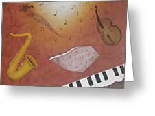Jazz Music Greeting Card