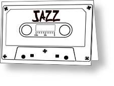 Jazz Music Tape Cassette Greeting Card