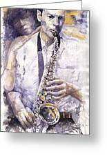 Jazz Muza Saxophon Greeting Card