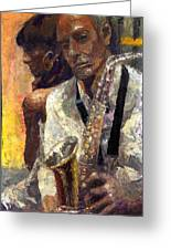 Jazz Muza  Greeting Card
