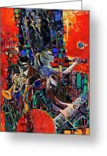 Jazz Orchestra 4 Greeting Card