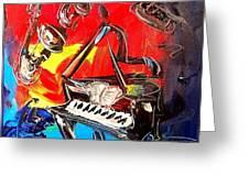 Jazz Piano Greeting Card