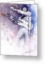 Jazz Rock Jimi Hendrix 07 Greeting Card