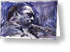 Jazz Saxophonist John Coltrane 01 Greeting Card