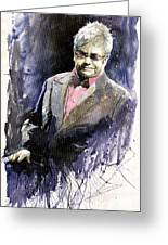 Jazz Sir Elton John Greeting Card