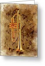 Jazz Trumpet Greeting Card