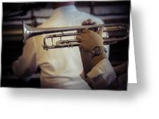 Jazz Trumpet New Orleans Greeting Card