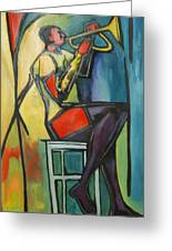 Jazz Trumpet Player Greeting Card