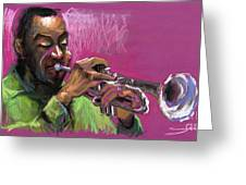 Jazz Trumpeter Greeting Card