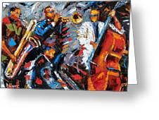 Jazz Unit Greeting Card by Debra Hurd