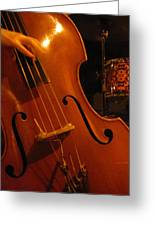 Jazz Upright Bass Greeting Card