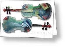 Jazz Violin - Poster Greeting Card