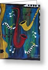 Jazzing It Up Greeting Card