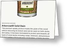 Jc Licht Arborcoat Solid Stain Greeting Card